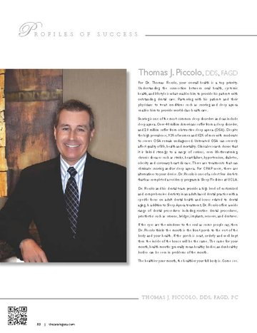 Thomas J. Piccolo, DDS — Profile of Success